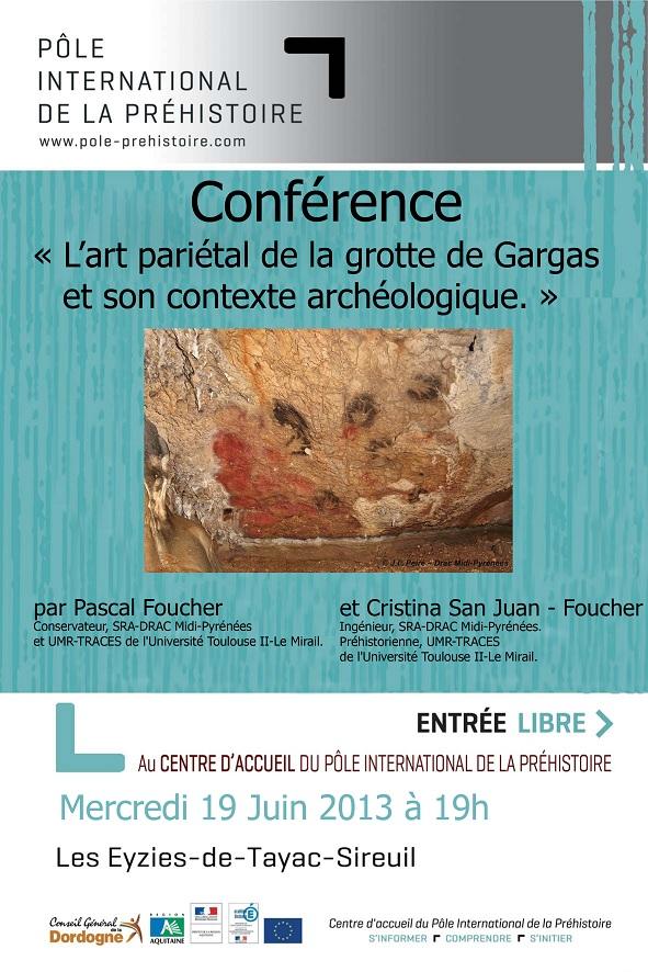 conférence sur l'art pariétal de la grotte de Gargas